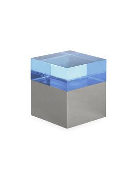 Blue Small Monaco Square Box by Jonathan Adler