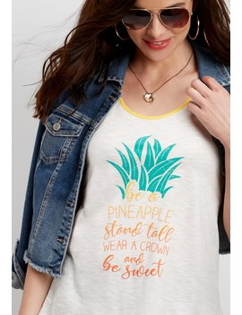 Be A Pineapple Graphic Tank by Maurices