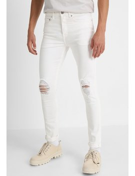 Busted Knee   Jeans Skinny Fit by New Look