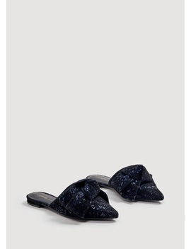 Sequins Bow Mule by Mango