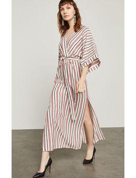 Striped Faux Wrap Maxi Dress by Bcbgmaxazria