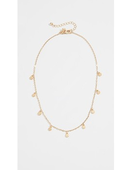 Etched Coins Droplet Necklace by Rebecca Minkoff