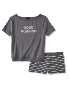 Joe Boxer Women's Pajama Shirt & Shorts   Good Morning by Kmart