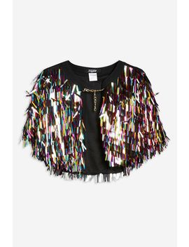 **Festival Rainbow Sequin Cape By Jaded London by Topshop