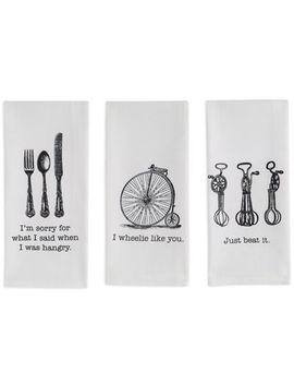 Design Imports Vintage Set Of 3 Kitchen Towels by Design Imports