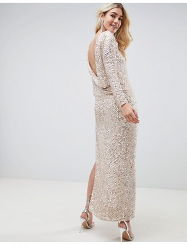 Asos Design All Over Sequin Cowl Back Maxi Dress by Asos Design