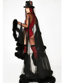 Wicked Champagne Campaign Feather Cape by Kiki Riki