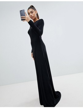 Fashionkilla Open Back Maxi Dress In Black by Fashionkilla