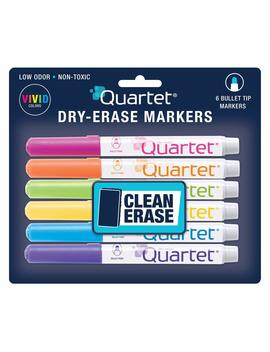 Quartet Classic Screamers Color Dry Erase Marker, Bullet Point, 6 Marker Set, Assorted Colors (51 659552 Q) by Quartet