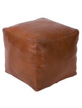 Casablanca Market Moroccan Leather Pouf & Reviews by Casablanca Market