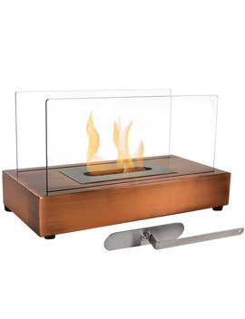 Sunnydaze Copper El Fuego Ventless Tabletop Bio Ethanol Fireplace by Sunnydaze Decor