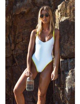 Sale New 80s/90s Inspired High Cut Swimwear ∆  White Swimsuit ∆ White One Piece  ∆ High Cut One Piece ∆  Sustainable Swimwear by Etsy