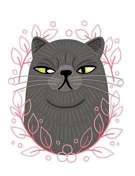 """Persian Cat Pet Portrait   Digital Portrait 5""""X7"""" by Etsy"""