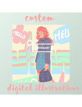 Custom Stylized Digital Portraits by Etsy