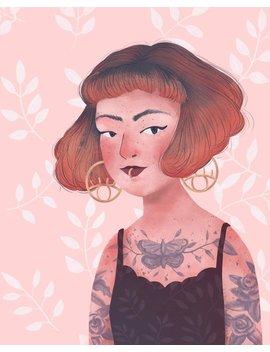 Custom Digital Portrait With Pattern Background // Digital Download // Custom Children, Family, Avatar Illustration by Etsy