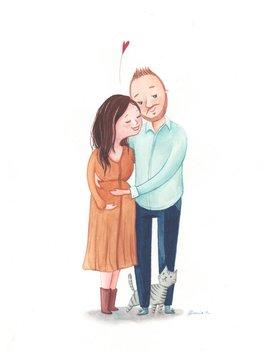 Custom Digital Portrait White Background, Original Custom Illustration Handmade, Romantic Present, Anniversary, Download by Etsy