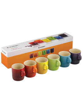Le Creuset Stoneware Rainbow Espresso Mugs (Set Of 6)   Multi by The Hut