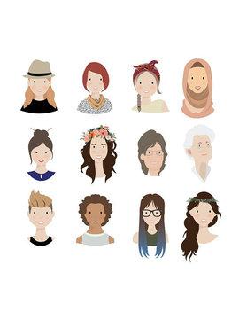 Custom Illustration Personal Portrait Avatar For User Profiles, Social Media Icons, Blogs (Digital File) by Etsy