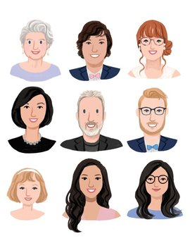 Custom Illustration Personal Portrait Avatar For User Profiles, Social Media Icons (Digital File) by Etsy