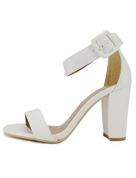 Silentsea Women Sandals Summer High Heels Sandals Opean Toe Women Shoes Fashion Banquet Shoes Stilettos All Match White Color by Silentsea