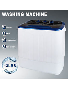 13 Lbs Portable Washing Machine Mini Compact Twin Tub Laundry Washer Spin Dryer by Uenjoy