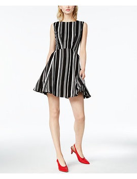 Striped Fit & Flare Dress, Created For Macy's by Bar Iii