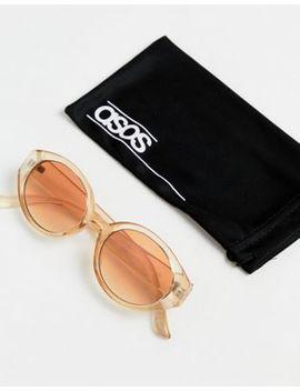 Asos Design Oval In Orange With Orange Frame by Asos Design