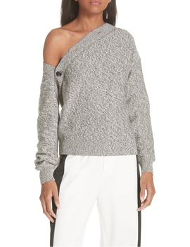 Asymmetrical Button Sweater by Mm6 Maison Margiela