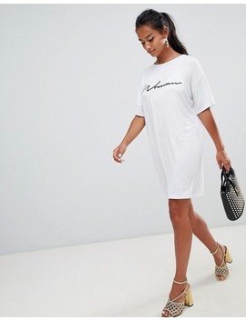 Boohoo Petite Woman Slogan T Shirt Dress by Boohoo