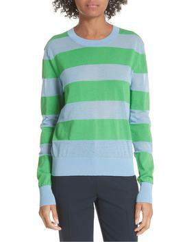 Diane Von Furstenberg Colorblock Stripe Sweater by Dvf