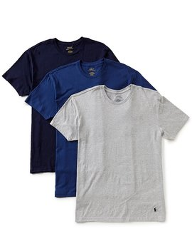 Classic Fit Cotton Crew Tee Assorted 3 Pack by Generic