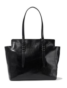 Glossed Textured Leather Tote by Halston Heritage