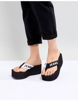 Tommy Jeans 90s Platform Logo Thongs by Tommy Jeans Capsule