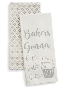 Bakers Gonna Bake Set Of 2 Dish Towels by Levtex