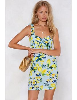 Bitter End Lemon Dress by Nasty Gal