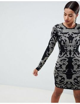 Ivyrevel Jacquard Knitted Bodycon Mini Dress by Ivyrevel