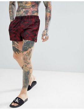 Calvin Klein Jacquard Short Swim Shorts by Calvin Klein