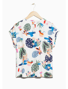 Tropical Print Top by & Other Stories