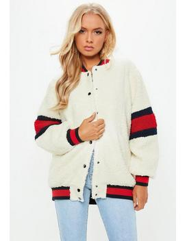 Cream Usa Borg Bomber by Missguided