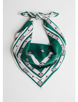 Printed Silk Neck Scarf by & Other Stories