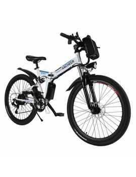 Ancheer Folding Electric Mountain Bike With 26 Inch Wheel, Large Capacity Lithium Ion Battery (36 V 250 W), Premium Full Suspension And Shimano Gear by Ancheer