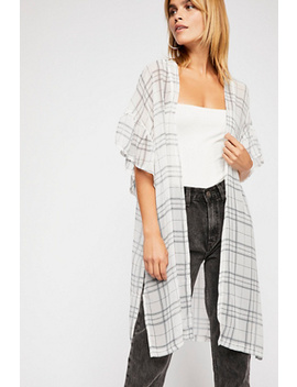 Margate Sheer Plaid Kimono by Free People