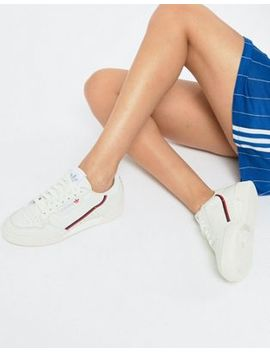 Adidas Originals   Continental   Baskets Style 80's   Blanc Cassé Et Rouge by Adidas