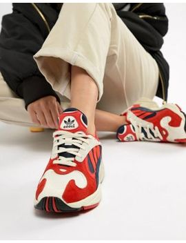 Adidas Originals   Yung 1   Baskets   Rouge Multicolore by Adidas