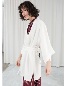 Embroidered Belted Kimono Jacket by & Other Stories