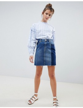 Daisy Street Check Blouse With Balloon Sleeves by Daisy Street