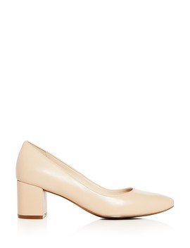 Women's Justine Leather Mid Heel Pumps by Cole Haan