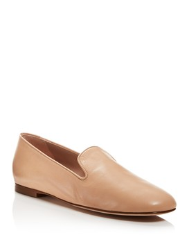 Women's Myguy Leather Smoking Slippers by Stuart Weitzman