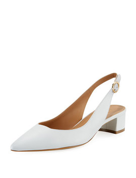 Low Heel Lamb Leather Slingback Pump by Mansur Gavriel