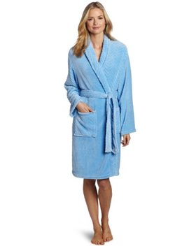 Seven Apparel Hotel Spa Collection Herringbone Textured Plush Robe, Blue by Seven Apparel